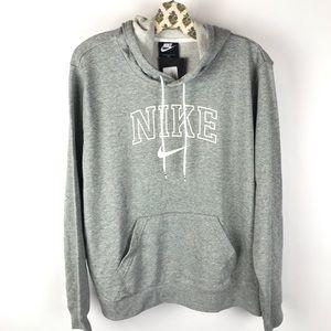 Nike Logo Gray Hoodie Sweatshirt 1X